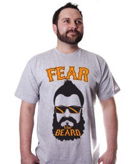 Brian Wilson Fear The Beard Soft T Shirt San Fran SF Giants Gray Tee
