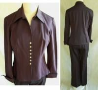 Vertigo Rocker Pants Suit Blazer Flared Snap Leg Peplum Jacket