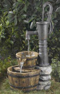 Old Ground Well Hand Pump Barrel Garden Yard Patio Deck Electric Water