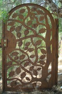GARDEN GATE METAL ART DESIGNER CUSTOM WROUGHT IRON DECORATIVE