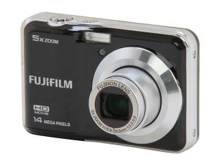 FUJIFILM FinePix AX500 Black 14 MP 5X Optical Zoom Digital Camera