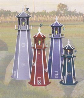 Amish Crafted Lighthouse Light House Lawn Yard Ornament Wooden Lighted