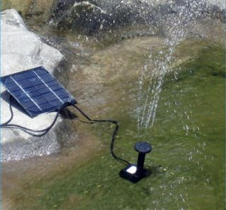 Solar Fountain Water Pump Power Panel Pool Garden Pond Watering