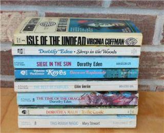 Lot 8 Vintage Gothic Romance Mystery Novels Eden Keyes Malm Stewart