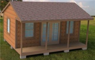 Plans How to Build 16x20 Garden Storage Shed Cabin Guest House