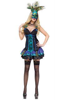 Sexy Midnight Peacock Adult Halloween Costume 121884