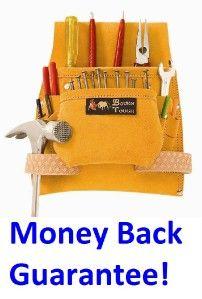 Best Tool Bag 8 Pocket Suede Leather Apron Carpenter Tough Nail Belt