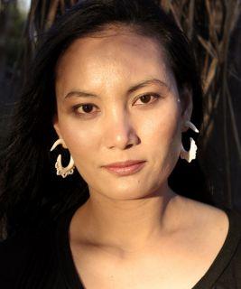 Handmade Tribal Bone White Crown Flower Fake Gauge Earrings Pair