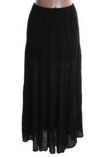 Famous Catalog New Black Gauze Long Lined Maxi Skirt 10 BHFO