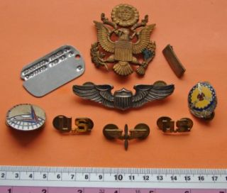 WWII Polish American Pilot USAAF Sterling Amico Pilot Wings Di