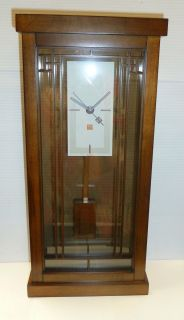 Frank Lloyd Wright Gale Bookcase Mantel Clock Made by Bulova