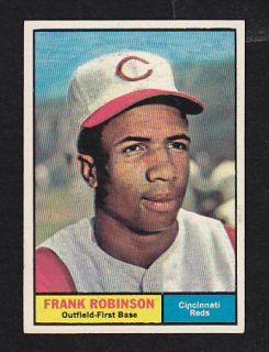 1961 Topps 360 Frank Robinson NMT Cincinnati Reds Premium Vintage Card