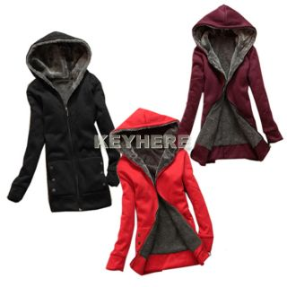 Fashion Casual Womens Ladies Thicken Warmer Hoodie Coat Outerwear