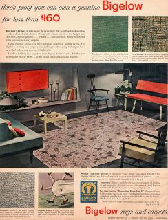 Paul McCobb Chairs BIGELOW RUGS & CARPETS Mid Century Modern Furniture