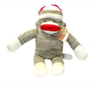 Classic Peek A Boo Sock Monkey Plush Doll Pillow Toy