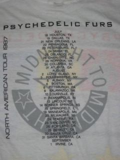 1987 Psychedelic Furs Vtg Pretty in Pink Tour T Shirt