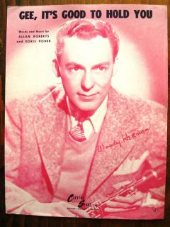 Woody Herman Gee Its Good to Hold You Sheet Music 1945 EX Cond