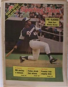 Ralph Garr Atlanta Braves 1974 Sporting News No Label