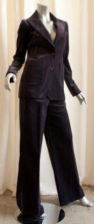 Gerard DAREL Purple Velvet Pant Blazer Suit 36 s New