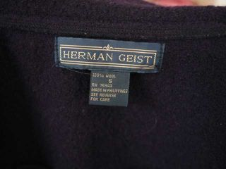 Herman Geist Womens Boiled Wool Navy Blue Shirt Jacket