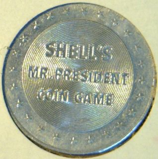 Franklin Pierce Commemorative Mr President Shell Game Medal Token Coin