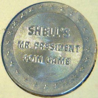 Franklin Pierce Commemorative Mr President Shell Game Medal Token Coin