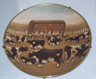 Spring Pasture COWS Collectible Plate Franklin Mint Limited Edition
