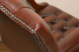 Leather Gainsborough Swivel Office Desk Arm Chair Seat