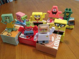 Square pants lot of 8 Burger King BK Toys Sandy Gary Plankton Patrick