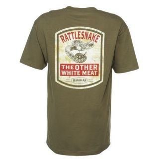 Mens New Magellan Sportswear The Other White Meat Rattlesnake T Shirt