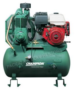 Stage 11HP Honda Gas Power Air Compressor HGR5 3H Tank Mounted