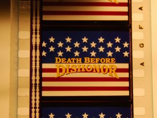 35mm Film Trailer Death Before Dishonor Fred Dryer 1987