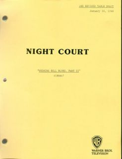 NIGHT COURT set of 17 scripts   Harry Anderson Markie Post John