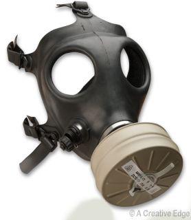 Israeli Military Black NBC Gas Mask w NATO 40mm Filter Drinking Tube