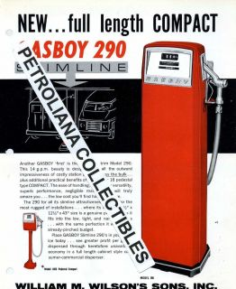 Gas Pump Literature Package A305 Wilson Sons Gasboy Model 290 1960s