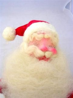 Vintage Harold Gale Santa Claus Christmas Display Red Velvet 14 inches