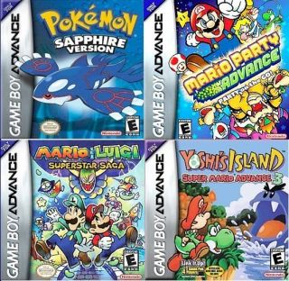 Lot of 3 Mario Pokemon Sapphire Game Boy Advance Games