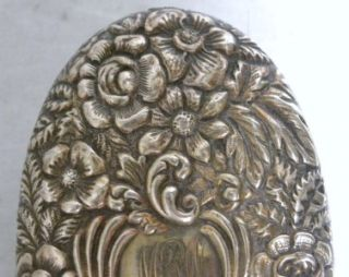 19c davis galt repousse sterling silver brush