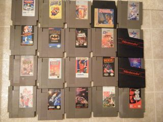 OF 20 NES Regular Nintendo Games SUPER MARIO 1 3 BATMAN TETRIS TOP GUN