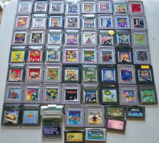 56 Game Boy , GBA & Color Games Gameboy Advance Super Mario Land 1 & 2