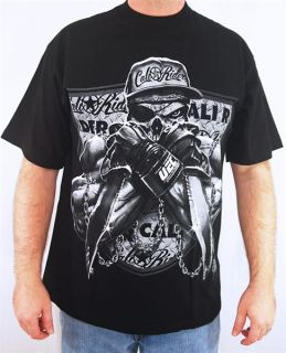 Club Urban Mens Hip Hop Gangsta Urban Street Wear Big and Tall T Shirt