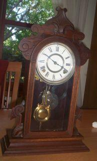 Gilbert Clock Co. Wooden Mantel/Shelf Clock, by George B. Owen, 1881