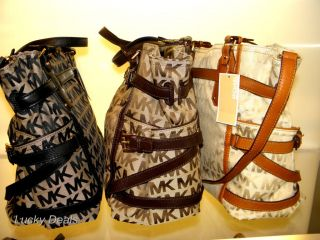 Michael Kors Gansevoort LG Tote Handbag Bag Teak MK Sig