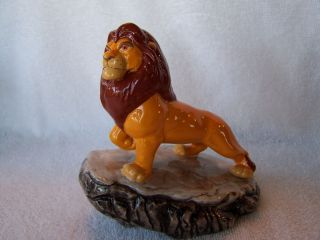 Disney Lion King Simba on Pride Rock Ceramic Figurine