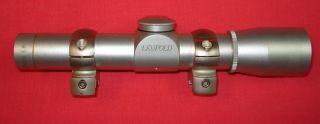 Leupold M8 2XExtended E R Silver Duplex Pistol Scope w rings