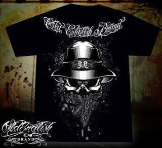 Gangster Skull Mens Shirt Old English Brand Clothing Chicano Rap XL