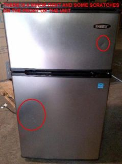 DANBY DCR326BSL 3.1 CU FT STAINLESS STEEL COMPACT REFRIGERATOR