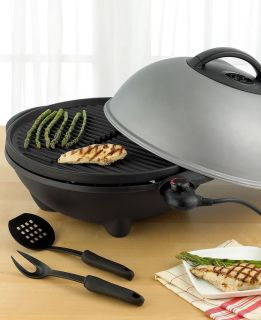 George Foreman GGR50B Indoor Outdoor Standing Grill New