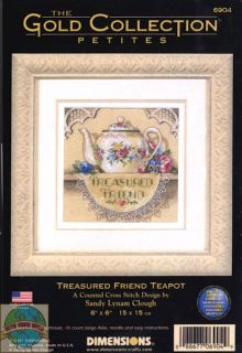 Kit Gold Collection Treasured Friend Flower Lace Teapot 6904