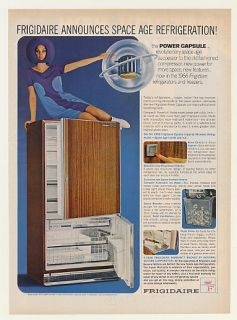 1966 Frigidaire Refrigerator Space Age Power Capsule Ad